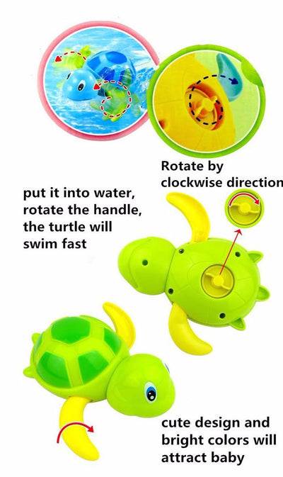 Tortoise Bath Toy - Clockwork Wind-up Turtle Toy