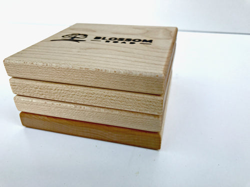 Solid Maple Coasters Set of (4) - Blossom Road