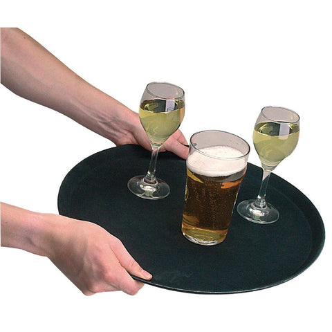 Kristallon Plastic Round Anti-Slip Bar Tray large
