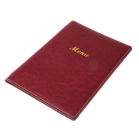 Leatherette Style Menu Holder A4 4 Card