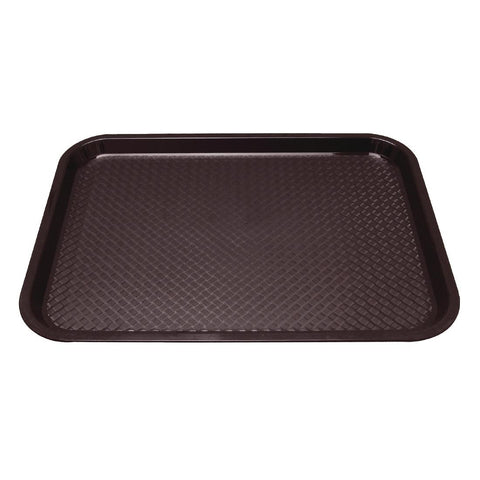 Kristallon Polypropylene Foodservice Tray 415 x 305mm Brown