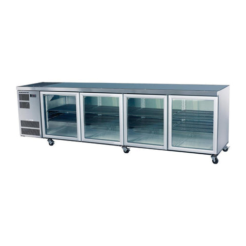 Skope Counterline 4 Glass Door Counter Fridge CL800