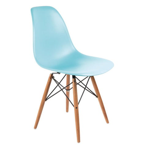 Bolero Ocean Blue Polypropylene Replica Eames Chairs (Pack of 2) (Pack of 2)