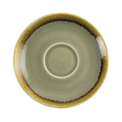 Olympia Kiln Cappuccino Saucer Moss 140mm (Pack of 6)