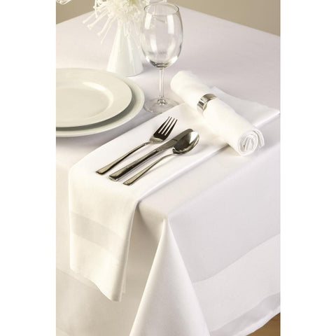 Satin Band Tablecloth White 178cm