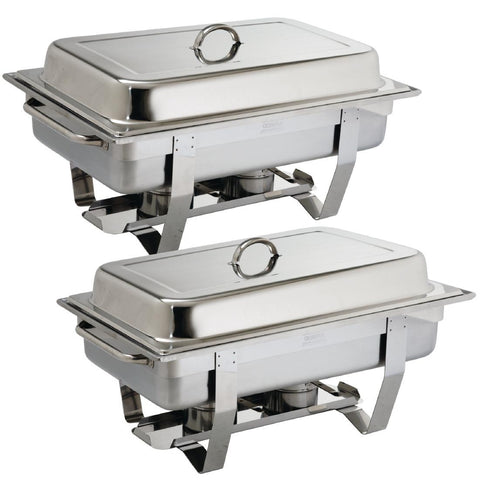 Olympia Milan Chafing Dish Twin Pack (Pack of 2)