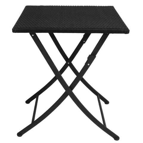 Bolero PE Wicker Folding Square Table 600mm