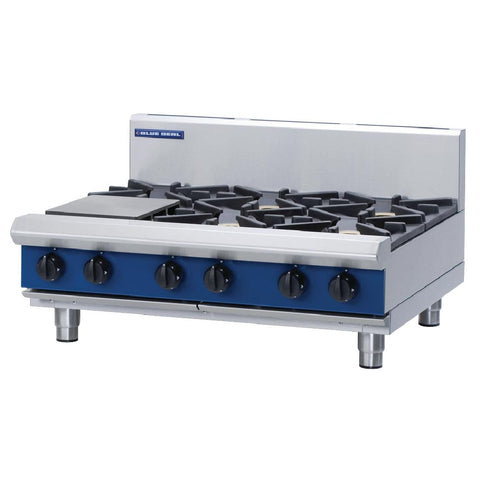 Blue Seal by Moffat 6 Burner Propane Gas Cooktop G516C-B