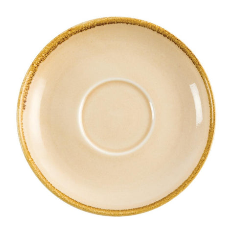 Olympia Kiln Cappuccino Saucer Sandstone 160mm (Pack of 6)