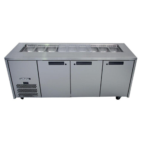 Williams 3 Door Stainless Steel Under Counter Fridge HO3UFBBA