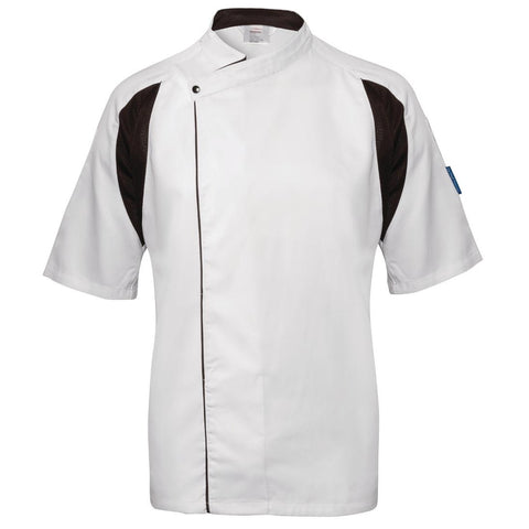 Le Chef Staycool Lightweight Executive Tunic White and Black XXL