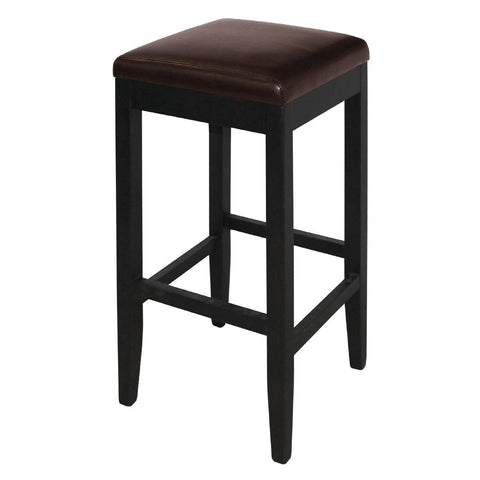 Bolero Faux Leather High Bar Stools Dark Brown (Pack of 2) (Pack of 2)