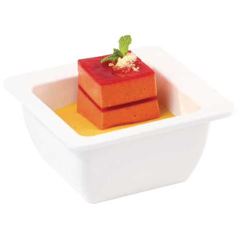 APS Apart Melamine Square Bowl White 150mm