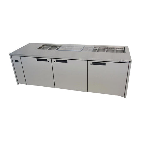 Williams 3 Door Stainless Steel Under Counter Fridge HE3UFBBA