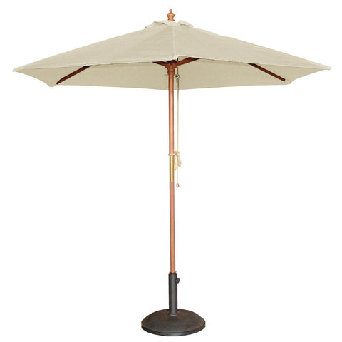 Bolero Round Cream Outdoor Umbrella 2.52m high