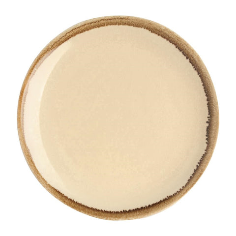 Olympia Kiln Round Coupe Plate Sandstone 230mm (Pack of 6)