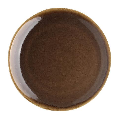 Olympia Kiln Round Coupe Plate Bark 230mm (Pack of 6)