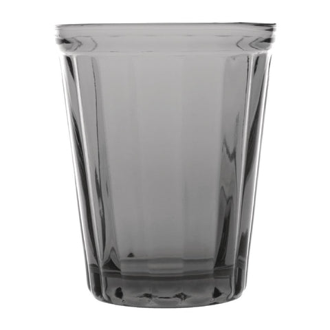 Olympia Cabot Panelled Glass Tumbler Smoke 260ml (Pack of 6)