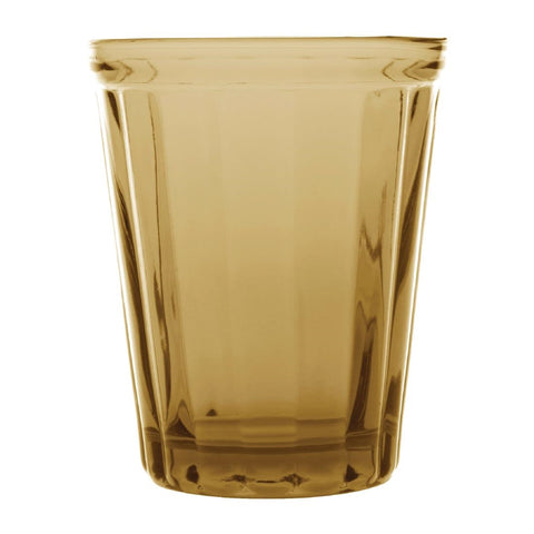 Olympia Cabot Panelled Glass Tumbler Amber 260ml (Pack of 6)