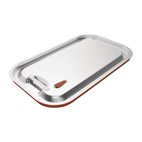 Vogue Stainless Steel and Silicone Sealable Gastronorm Lid 1/1