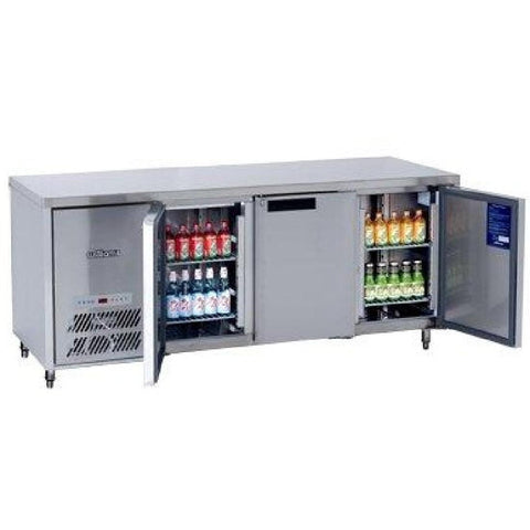 Williams Opal 3 Door Fridge HO3U Stainless Steel
