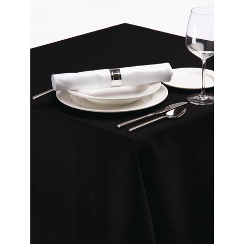 Palmar Polyester Tablecloth Black 90in