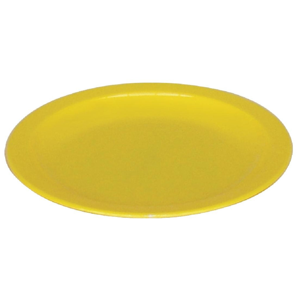 Kristallon Polycarbonate Plates Yellow 230mm (Pack of 12)
