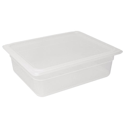 Vogue Polypropylene Gastronorm Pan 1/2 with Lid 100mm (Pack of 4)