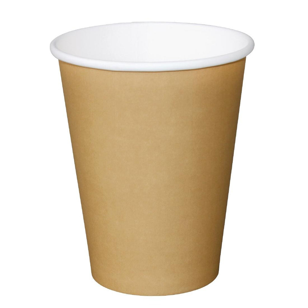 Fiesta Disposable Brown Hot Cups 340ml x50 (Pack of 50)