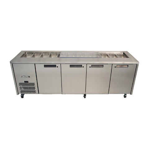 Williams 4 Door Stainless Steel Under Counter Fridge HO4UFBBA