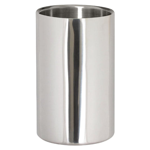 Wine Bottle Cooler Polished Steel
