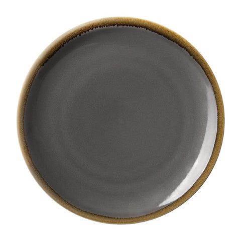 Olympia Kiln Round Coupe Plate Smoke 230mm (Pack of 6)