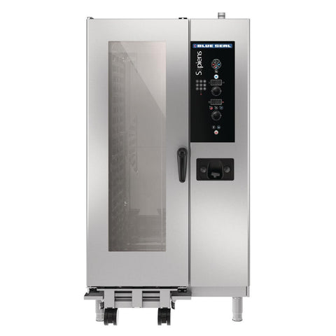 Blue Seal by Moffat Sapiens 20X 1/1 GN Tray Roll In Combi Oven with Fully Automatic Cleaning System Natural Gas