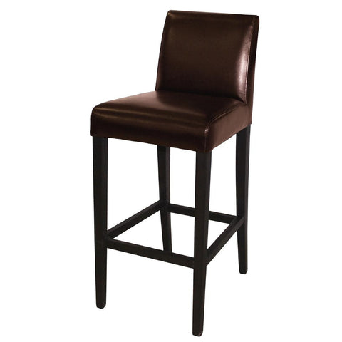 Bolero Faux Leather High Bar Stool Brown