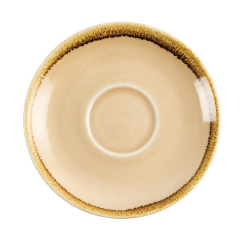 Olympia Kiln Cappuccino Saucer Sandstone 140mm (Pack of 6)