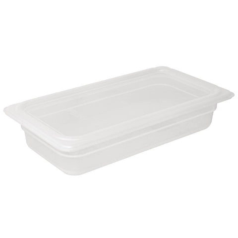 Vogue Polypropylene Gastronorm Pan 1/3 with Lid 100mm (Pack of 4)