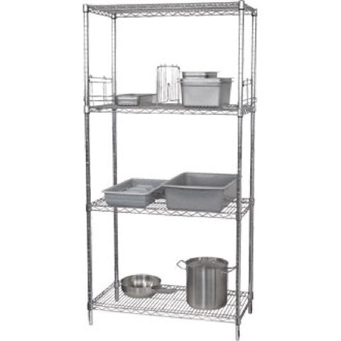 Vogue 4 Tier Wire Shelving Kit 1830x610mm