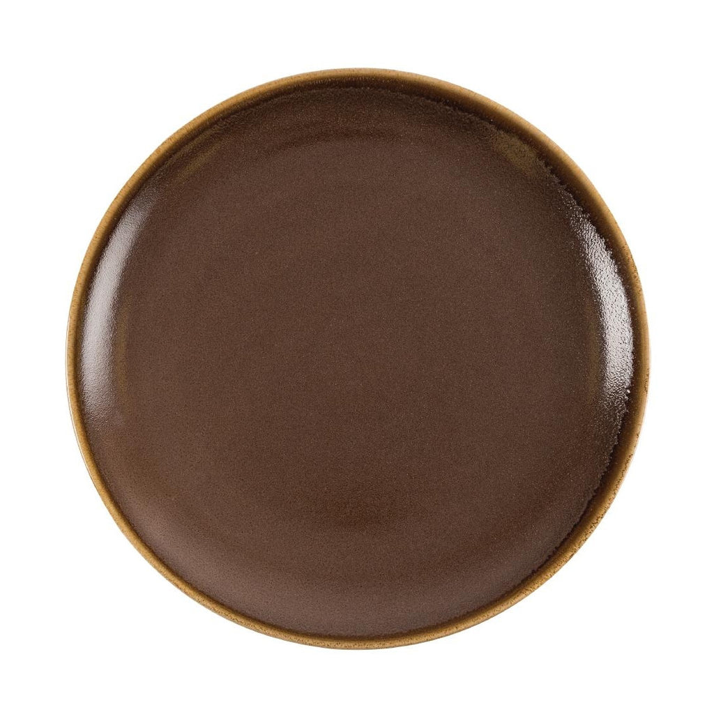Olympia Kiln Round Plate Bark 280mm (Pack of 4)