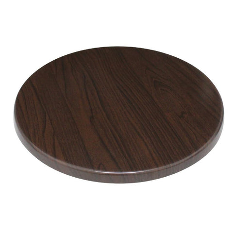 Bolero Round Table Top Dark Brown 600mm