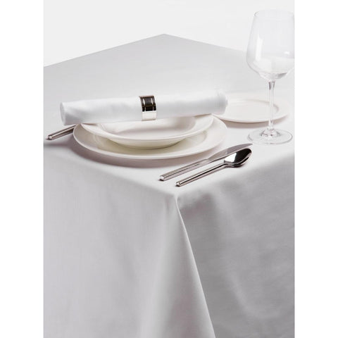 Palmar Polyester Tablecloth White 54in