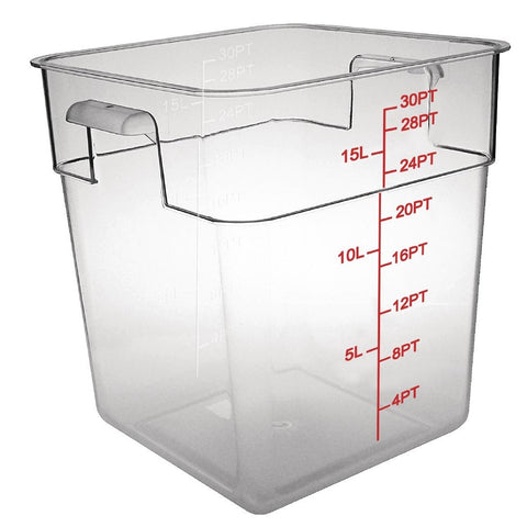 Vogue Polycarbonate Square Storage Container 15Ltr