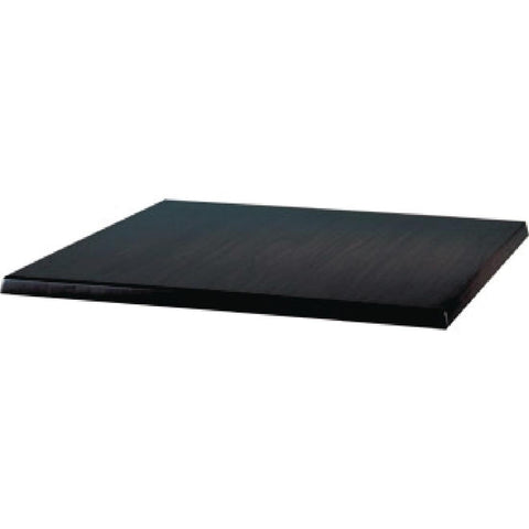 Werzalit Square Table Top Black 600mm