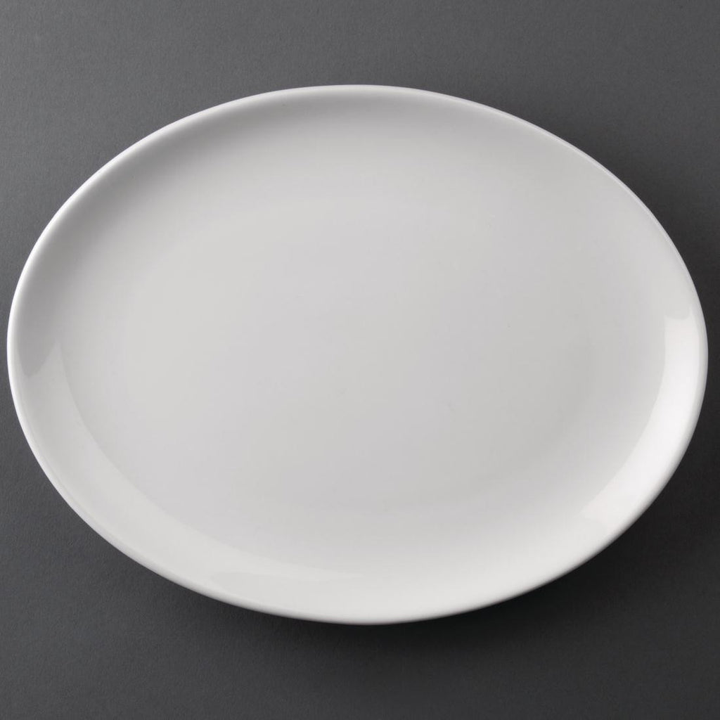 Athena Hotelware Oval Coupe Plates 254x 178mm (Pack of 12)