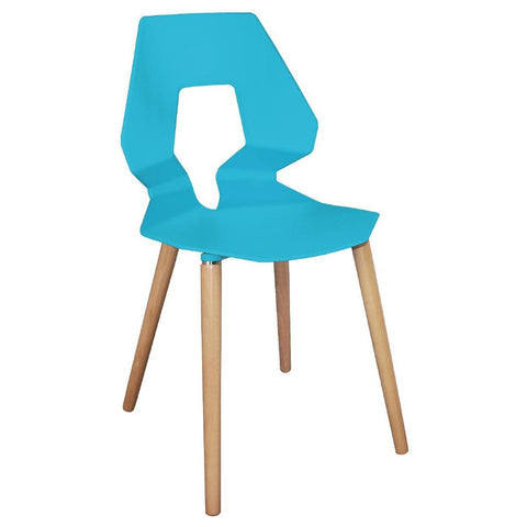 Bolero Blue Polypropylene Angel Chairs (Pack of 4) (Pack of 4)