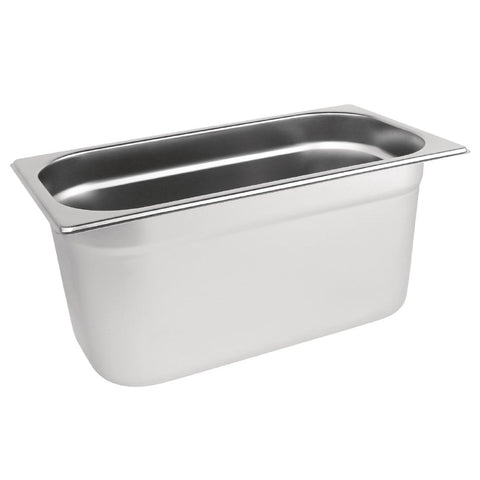 Vogue Stainless Steel 1/3 Gastronorm Pan 200mm