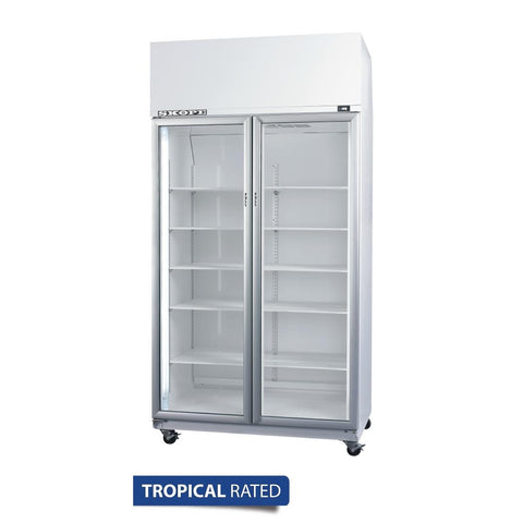 Skope TME Activecore Series Double Glass Door Upright Fridge TME1000