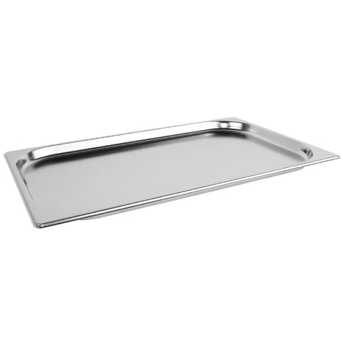 Vogue Heavy Duty Stainless Steel 1/1 Gastronorm Pan 20mm