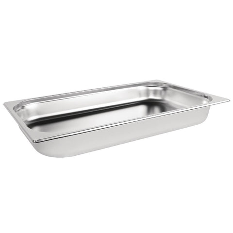 Vogue Stainless Steel 1/1 Gastronorm Pan 65mm