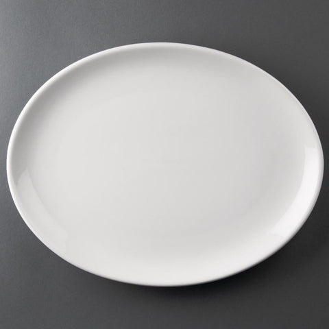 Athena Hotelware Oval Coupe Plates 305x 242mm (Pack of 6)