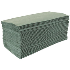 Jantex Z Fold Green Hand Towels (Pack of 15)